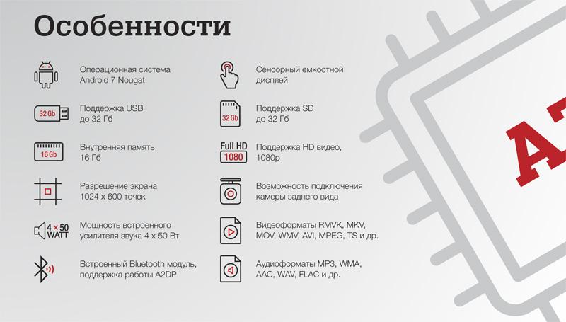 Incar AHR-7480, Incar AHR-7080 Характеристики